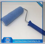 Tipo azul da gaiola do rolo de pintura do poliéster da cor
