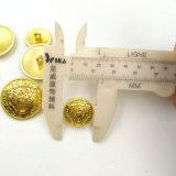 De goud Geplateerde Knopen van de Steel van het Metaal met In reliëf gemaakt Embleem