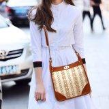 형식 여자 부대 새로운 디자인 인쇄를 가진 실제적인 가죽 어깨 핸드백