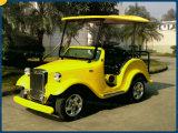 6 Sitzcer-anerkannte elektrische Weinlese-Karren-Golf-Karre