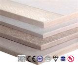 Scheda materiale del muro divisorio della scheda del silicato del calcio della scheda del cemento della fibra della decorazione a prova di fuoco della scheda di densità bassa