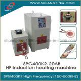 Máquina de calefacción de alta frecuencia de inducción 20kw 200-500kHz Spg400K2-20b