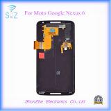 Pantalla táctil móvil elegante del teléfono celular LCD para el nexo 6 de Motorola Google