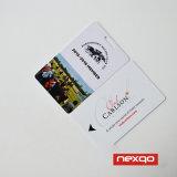 Reimpresión impresa parte del soporte de las tarjetas de la identificación de la universidad con nombre y número
