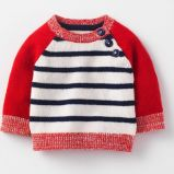 Maglietta felpata unisex sveglia del pullover del capretto del maglione del Knit della ragazza del neonato del bambino