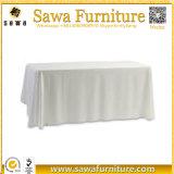 Mantel oblongo rectangular blanco del poliester del paño de vector