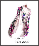 カスタマイズされたカラー縫うカラーウールは女性のためのスカーフを好む