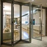 La mejor puerta de plegamiento de lujo de la aleación de aluminio de la calidad de Feelingtop