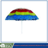 """7개의 """" 다채로운 PP 잔디 바닷가 하와이 밀짚 우산 (SY1805-1)"""