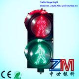 Sinal do diodo emissor de luz da lente desobstruída aprovada do Cobweb En12368/sinal de tráfego de piscamento para o cruzamento Pedestrian