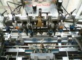 Máquina cortando e vincando automática com descascamento