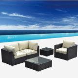 フォーシャンのテラスの家具アーム椅子のソファーは防水クッションとセットした
