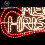 Animated 100cm LED Clear 'merry Christmas' Motif Rope Lights