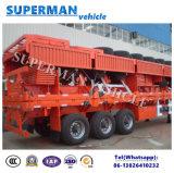 Aanhangwagen van de Tri van de As van het Type van Vietnam de Semi van het Compartiment van de Zijgevel Vrachtwagen van de Lading