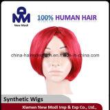 Perruque synthétique de lacet de couleur rouge de perruque bon marché de femmes