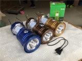 Lanterne solaire campante rechargeable de lanterne d'approvisionnement d'usine