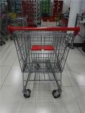 Hight Qualitätsmetallaustralische Supermarkt-Einkaufen-Laufkatze auf Verkauf