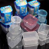 플라스틱 음식 콘테이너를 신선하 지키는 둥근 음식 도시락