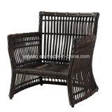 Il sofà esterno della mobilia del giardino del grande rattan rotondo sintetico poco costoso superiore ha impostato dal sofà 3-Seat & dal singolo sofà (YT603)