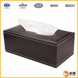 Caja del tejido del cuero de la suposición de la fuente del fabricante