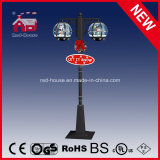 Klassisches Black Color Christmas Street Light Weihnachtsmann mit LED