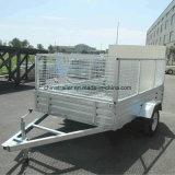 Box galvanisé Trailer avec Aluminum Ramp et 600mm Cages
