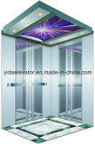Passeggero Elevator con Mirror Etched Stainless Steel Decoration (YDJ-O2-9)