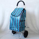 Trole portátil da compra com o carro de alumínio da bagagem do frame da tubulação