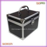 Cor cor-de-rosa contínua caixa plástica articulada da vaidade do caso cosmético (SACMC079)
