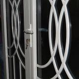 Vidro dobro com grade, porta de alumínio Kz195 do Casement do perfil da ruptura térmica revestida branca do pó da cor