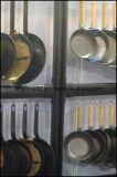 Poêle à tarte ronde en acier noir Panneau à frire grise
