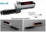 3 USB 충전기 (2.1A+2.1A+U 디스크)를 가진 차 Bluetooth 4.1 FM 전송기에 있는 지적인 APP 관제사 (BC11B)