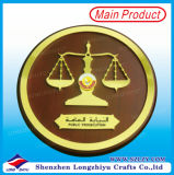 BoxのQutar Libra Round Wooden Shield Trophy Plaque