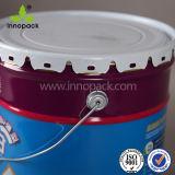 シールのふたおよびハンドルが付いている習慣によって印刷される国連レートの金属のペンキのバケツのバケツ