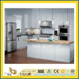 Custom Solid Yellow/White Quartz Stone Countertop for Indoor Decoration