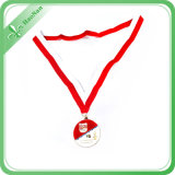 Sublimazione Printing Smooth Red e White Medal Ribbon