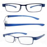 Volles Rim Metal Reading Glasses mit PC Temples
