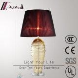 Europäische dekorative Edelstahl-Tisch-Lampe um Glasdraht