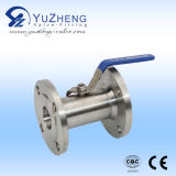 2PC Flange Ball Valve con Un Side Male Thread (MF)