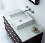 Above quadrato Counter Sink per Lavatory (S1001-010)