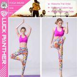 Pantalones del ejercicio del entrenamiento de las polainas de la yoga de la aptitud de los deportes de las mujeres