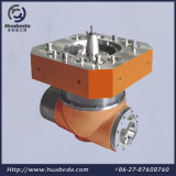 Головка поперечной экструзионной головки 90degree филируя, CNC