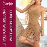 Mit Blumenhohle Häkeln-Stricken reizvollen heißen Frauen-BikiniBeachwear (L38206)