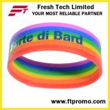 Heißer verkaufensilikonWristband des regenbogen-2016 mit Soem