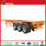 3 Axle 40-60ton 40f- 20FT тележки каркасный контейнера трейлер Semi