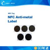 Ntag203 PVC ISO14443A NFC Hf13.56MHz 반대로 금속 레이블