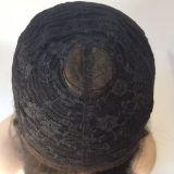 """28 """"長く深い波のRemyの毛の前部レースの#Blackの毛のかつら"""