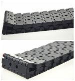 Correia modular superior lisa plástica perfurada com largura limitada