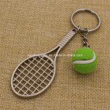 Clef en plastique faite sur commande bon marché en gros Keychain de raquette de tennis