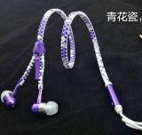 Trasduttore auricolare stereo della chiusura lampo con colore personalizzato cavo della chiusura lampo